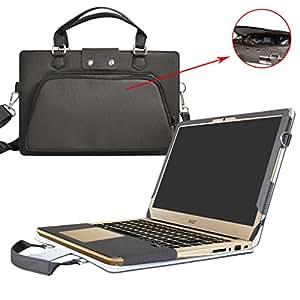 Acer Swift 3 Housse,(2 en 1) spécialement conçu Etui de protection en cuir PU + sac portable