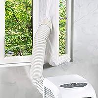 Homegoo Guarnizione per Finestra per Condizionatore Portatile e Asciugatrice 1. È progettato per regolare lo scambio d'aria tra il telaio della finestra e la finestra. Assolutamente è un modo fantastico per godersi l'estate fresca. 2. La guar...