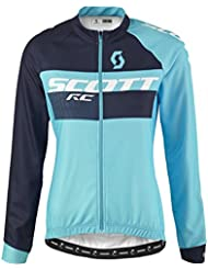 Scott RC AS Damen Winter Fahrrad Trikot blau 2017