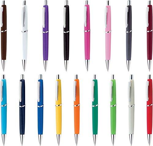 100 pezzi penne personalizzabili personalizzate con nome logo o slogan gadget promozionali - vanea shock pd346 - stampa 1 colore