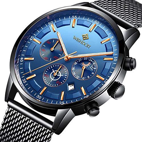 eef0b84138b4 Mens Watches Fashion Top Brand Waterproof Analogue Quartz Wrist Watch Sport  Chronograph Date Business Luxury Black