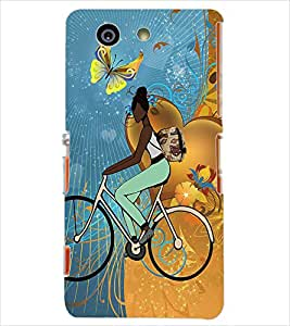 Fuson Cycling Girl Back Case Cover for SONY XPERIA Z3 COMPACT - D3793