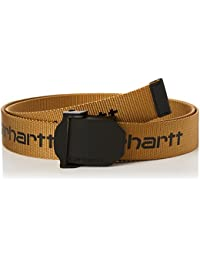 dbb54f6b3c77 Carhartt Mens Signature Graphic Logo Heavy Nylon Webbing Belt