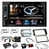 Kenwood DNX-4180BTS Navigation Naviceiver Bluetooth CarPlay USB CD DVD Autoradio FLAC Doppel Din Einbauset für Audi A6 4B Facelift