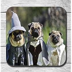 Funny Cute el Señor de los anillos de perros de Perro Carlino - regalo, cumpleaños, regalos navideños preferidos, perfecto como regalo
