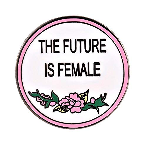 Gudeke El Futuro es Femenino Pin de Esmalte Femenino Feminista Broche