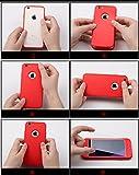 HICASER iPhone SE 360 Grad Hülle + Panzerglas, Komplettschutz Vorder und Rückseiten Schutz Schale Ganzkörper-Koffer Soft TPU Schutzhülle für iPhone 5 / 5s Schwarz - 7
