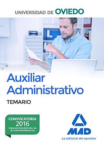 Escala de Auxiliares Administrativos de la Universidad de Oviedo. Temario