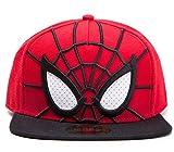 Spider-Man Cap 3D Snapback With Mesh Eyes Mütze Marvel Comics Schirmmütze The Amazing Spiderman
