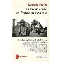 La presse écrite en france au XXe siècle