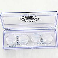 SueSupply 4 x Silikon Ohrstöpsel Schwimmen Ohrschützer Tauchen Schnorcheln Ear Plug Schwimmen Ohrschutz wasserfest und wasserdicht für Kinder und Erwachsene mit Aufbewahrungsbox