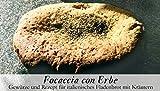 Focaccia con Erbe – 8 Gewürze Set für das italienische Fladenbrot (50g) – in einer schönen Holzbox – mit Rezept und Einkaufsliste – Geschenkidee für Feinschmecker von Feuer & Glas - 2
