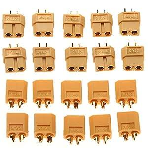 10 Paires XT60 XT-60 Hommes / Femmes Connecteurs Bullet Bouchons Pour Batterie Lipo RC