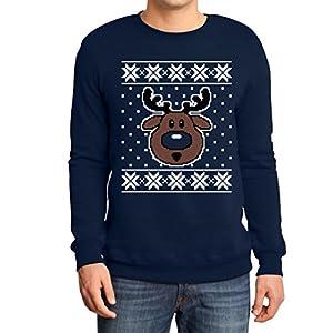 Hsslicher-Weihnachtspullover-Rudolph-Rudolf-Rentier-Sweatshirt