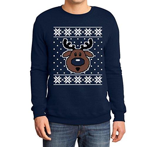 Hässlicher Weihnachtspullover Rudolph Rudolf Rentier Sweatshirt