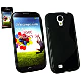 Emartbuy ® Samsung Galaxy S4 I9500 Wellenmuster Gel Skin Cover Black