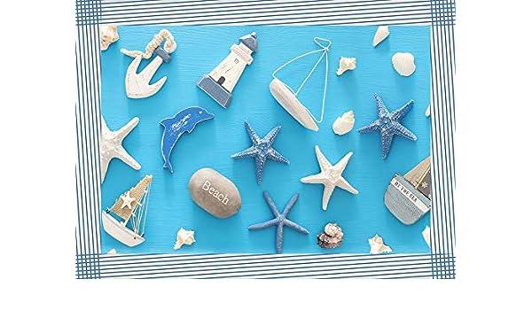 Tovaglietta Americana a Tema Mare in tonalit/à Blu per Arredare Cucina e Camera Misura 33x45 cm