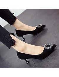 FLYRCX Muelle delgado señaló tacones y zapatos de tacón,35,un