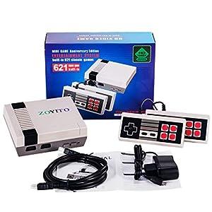 ZOYITO Classic Konsolen Game Player TV Spielekonsole Klassisches Familienspiel Konsolen Berufs Eingebautes 600 Fernsehapparat Videospiel mit Doppelsteuerpulten (HDMI HD Edition Europe Standard ) (HD cable)