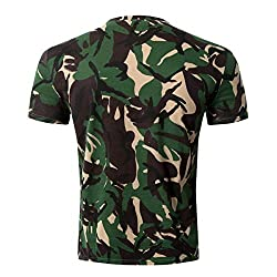 XNRHH Men and Women Lovers Hip-Hop Loose Large Size Street Style Blouse Dog Head Camouflage Pattern Short Sleeve T-Shirt by XNRHH