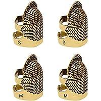 4 Pack de coser dedal protector de dedo, protector de metal ajustable dedo protector Pin