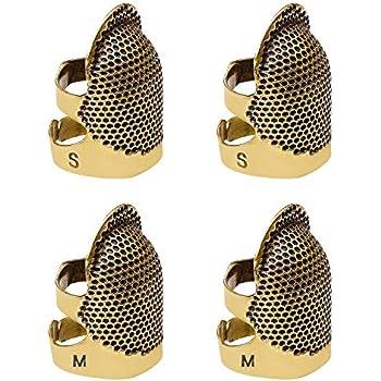 m Sunsline Vintage Fingerhut Finger Protector Schild Beschuetzer Fingerspitze Fingerhut Nadel Partner Fingerhut Naehen Naehwerkzeug
