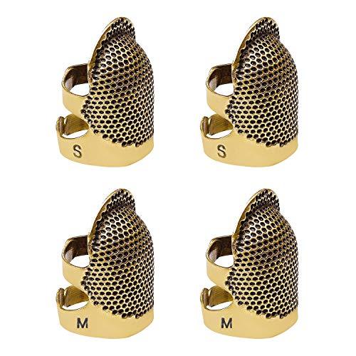 4 Pack de coser dedal protector de dedo