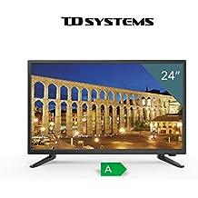 "TV Full HD TDSystems 24"" Pulgadas HD K24DLT6F (Resolución 1920x1080 /HDMI 1/ VGA 1/Eur 1/ USB Reproductor y Grabador) Televisores HD"