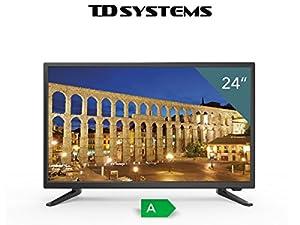 TDSystems TV Full HD 24 « pouces HD K24DLT6F (résolution 1920x1080 / HDMI 1 / VGA 1 / Eur 1 / lecteur USB et enregistreur) téléviseurs HD