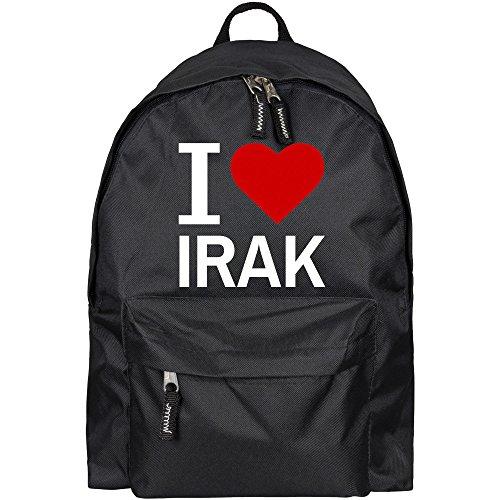 Rucksack Classic I Love Irak schwarz - Lustig Witzig Sprüche Party Tasche (Mario Party Thema)