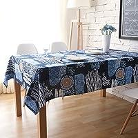Tablecloth Clothes UK- Mantel Cuadrado de algodón Mantel rústico Estilo rústico Maceta Mantel Lavable Mesa