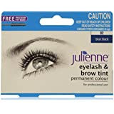Julienne Eyelash and Brow Permanent Colour Tint 15ml with FREE eye wand applicator