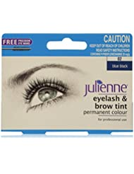 Julienne Eyelash and Eyebrow Permanent Blue Black 02 Colour Tint 15ml