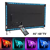 TV backlight ,3M LED TV Lights USB Kit 5050 RGB Multicolor Back Lightings Strip with 44-key IR Remote Controller for 46inch~60inch HDTV PC Monitor Home Theater Decoration