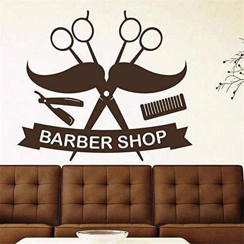 Wandtattoo Kinderzimmer Wandtattoo Wohnzimmer Man Razor Shavers Barber Shop Sticker Chop Bread Decal Haircut Posters Wall Art Decals for barber shop