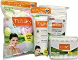 Tulips Combo Pack of Color Cotton Balls,Buds, Pads and Cotton Pleats (Pack of 4)