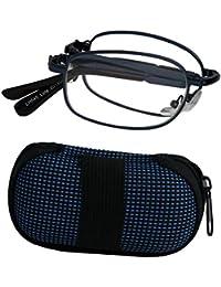 Sunvision - Gafas de lectura plegables azules con estuche-3,00 D