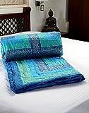 Handcraftd Jaipuri World Famous Queen Size Printed Cotton Double Quilt Razai Duvet Comforter