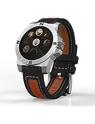 Reloj inteligente recargable LQ S1DZ09bebé azul para SIM barato, reloj inteligente para niños Mujeres tonos de llamada, alarma, Smart Fitness reloj inteligente reloj banda recambio–marrón Smart Watch Reloj de pulsera mujer