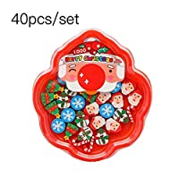 AGLKH Santa Snowman Eraser with Transparent Packaging Ball Pencil Writing Eraser Stationery Gift For Kids 20/40 PCS,40 Pcs