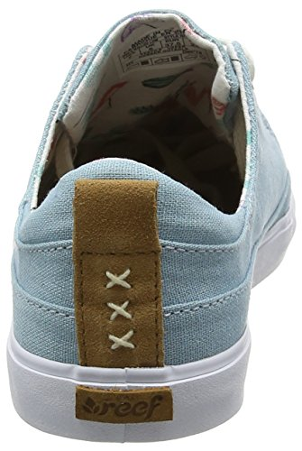 Reef Damen Girls Walled Low Sneakers Blau (Steel Blue)