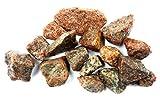Wasserfarm Steine Rot Aquarium Stones Bunt Terrarium Deko Aquascaping Steine XL Kies Rot/Bunt Dekosteine 500g