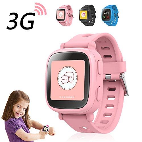 "Oaxis WatchPhone, Reloj inteligente para niños, 1.54"", TFT, Pantalla táctil, 3G SIM, GPS (satélite), 53 g, Rosa"