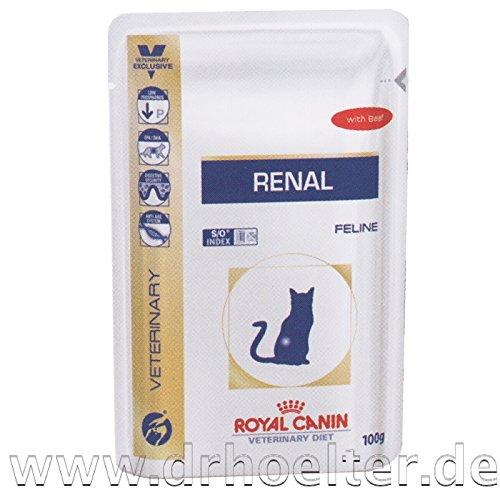 Royal Canin Renal Katze Nassfutter Rind 12 x 100g (Diätetische Omega-3)