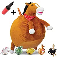 Waliki TOYS Space Hopper Ball For Kids Ages 3-5 (Hippity Hop Ball, Hopping Ball, Bouncy Ball With Handles, Sit & Bounce, Kangaroo Bouncer, Jumping Ball, Unicorn, Pump Included) (Horse)
