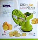 Famous Potato & Vegetables Slice Maker Thick & Thin Chips Blades with Peeler Free - srisai Naturals