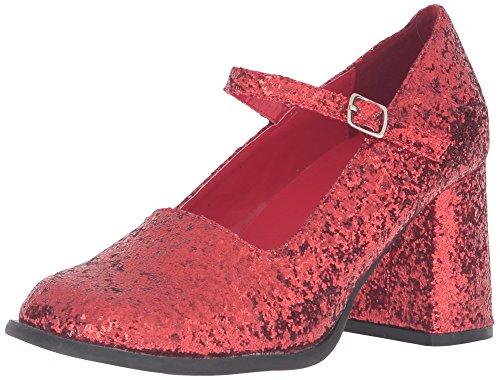 Ellie Shoes Damen Plateau, Pumps, Rot Glitter, 37 EU Ellie Shoes High Heel Pumps
