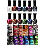 Kleancolor Nail Polish - Awesome Metallic Full Size Lacquer (Set of 12
