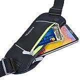 [Sport Hüfttasche] FREETOO Gürteltasche flache Bauchtasche mit Kopfhöreranlass passt alle Handys unter 5,5 Zoll MUST HAVE Accessoire für Damen und Herren auf Sport und Outdoor Aktivitäten anwenden -