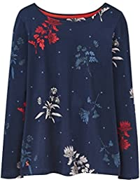 JOULES French Navy Fay Floral HARBOUR PRINT Long Sleeve Top (X) (16)